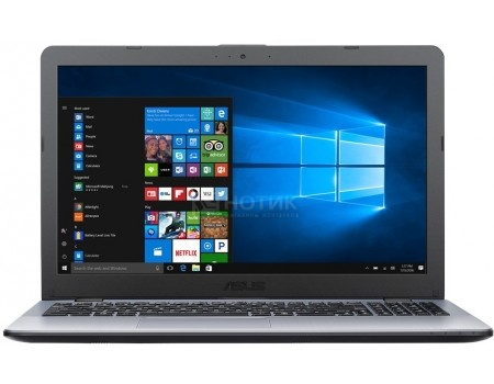 Ноутбук ASUS VivoBook 15 X542UA-DM696T (15.6 TN (LED)/ Pentium Dual Core 4405U 2100MHz/ 6144Mb/ HDD 1000Gb/ Intel HD Graphics 510 64Mb) MS Windows 10 Home (64-bit) [90NB0F22-M09320]