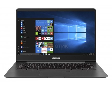 Фотография товара ультрабук ASUS Zenbook UX430UA-GV505R (14.0 IPS (LED)/ Core i3 7100U 2400MHz/ 8192Mb/ SSD / Intel HD Graphics 620 64Mb) MS Windows 10 Professional (64-bit) [90NB0EC1-M11820] (58484)
