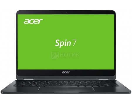 Ноутбук Acer Spin SP714-51-M2PE (14.0 IPS (LED)/ Core i7 7Y75 1300MHz/ 8192Mb/ SSD / Intel HD Graphics 520 64Mb) MS Windows 10 Home (64-bit) [NX.GKPER.003]