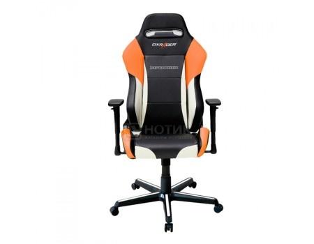 Фотография товара кресло геймерское DXRacer Drifting, Искусственная кожа, Черный/Белый/Оранжевый OH/DM61/NWO (58751)