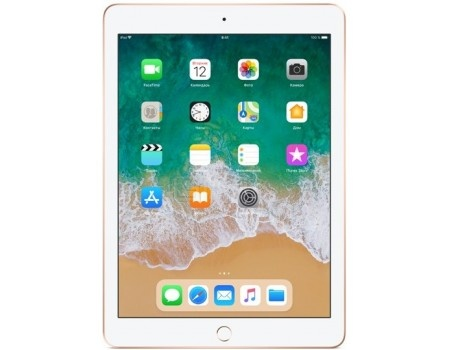 "Фотография товара планшет Apple iPad 9.7 2018 128Gb Wi-Fi Gold (iOS 11/A10 Fusion 2340MHz/9.7"" 2048x1536/2048Mb/128Gb/ ) [MRJP2RU/A] (58831)"