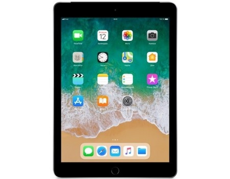 "Apple iPad 9.7 2018 128Gb Wi-Fi + Cellular Space Gray Планшет Apple iPad 9.7 2018 128Gb Wi-Fi + Cellular Space Gray (iOS 11/A10 Fusion 2340MHz/9.70"" 2048x1536/2048Mb/128Gb/4G LTE ) [MR722RU/A] MR722RU/A"