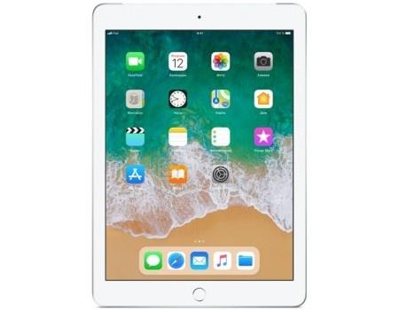 """Фотография товара планшет Apple iPad 9.7 2018 128Gb Wi-Fi + Cellular Silver (iOS 11/A10 Fusion 2340MHz/9.7"""" 2048x1536/2048Mb/128Gb/4G LTE ) [MR732RU/A] (58835)"""