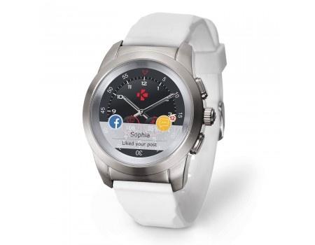 Фотография товара смарт-часы MyKronoz ZeTime Original Regular, 200мАч, Серебристый/Белый KRZT1RO-BSL-WHSIL (58861)