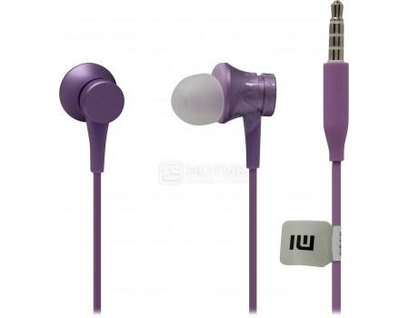 Фотография товара гарнитура проводная Xiaomi Mi In-Ear Headphones Basic, Фиолетовый ZBW4357TY (58964)