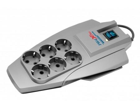 Сетевой фильтр ZIS Pilot X-Pro 6 розеток 3м Серый Pilot X-Pro 3M.