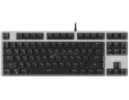 Купить клавиатура проводная Rapoo V500 (Blue Switch), USB, Черный/Серебристый, 17714 (59247) в Москве, в Спб и в России