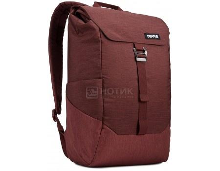 """Рюкзак 14"""" Thule Lithos Backpack 16L, TLBP-113_DARK_BURGUNDY, Полиэстер, Бордовый"""