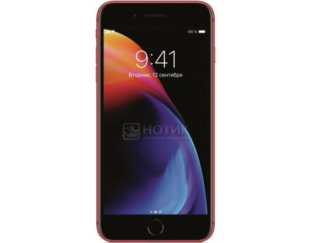 "Фотография товара смартфон Apple iPhone 8 64Gb Red (iOS 11/A11 Bionic 2400MHz/4.7"" 1334x750/2048Mb/64Gb/4G LTE ) [MRRM2RU/A] (59521)"