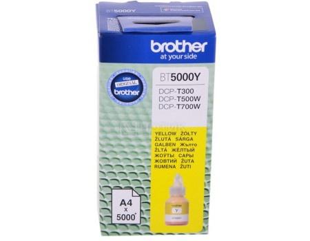 Фотография товара бутылка с чернилами Brother BT5000Y для DCP-T310/DCP-T510W/DCP-T710W, Желтый BT5000Y 5000стр (59539)