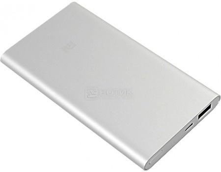 Фотография товара внешний аккумулятор Xiaomi Mi Power Bank 5000 мАч, 1xUSB 5V/2.1А Серебристый MiPowerBank5000_silver (59704)