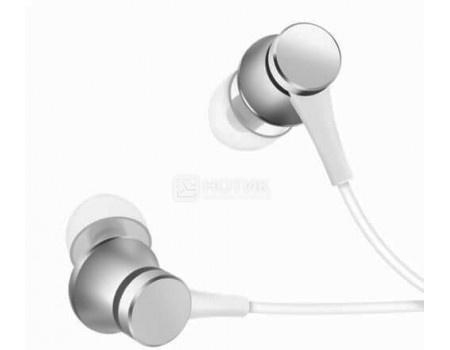 Фотография товара гарнитура проводная Xiaomi Mi In-Ear Headphones Basic, Серебристый Mi In Ear Headphones Basic Silver (59706)
