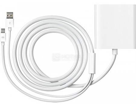 Фотография товара адаптер Apple Mini DisplayPort to Dual-Link DVI (DVI-D, Mini DisplayPort, USB 2.0), MB571Z/A, Белый (59766)