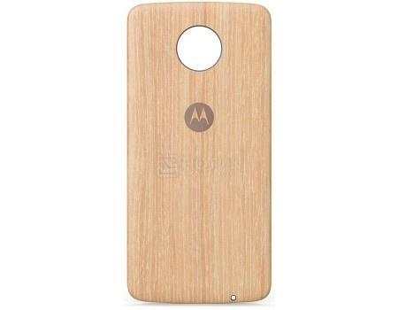 Фотография товара чехол-накладка Motorola для Moto Z/ Z Play Style Shell Moto Mod Washed Oak Woo ASMCAPWDOKEU, Дерево, Коричневый (59772)