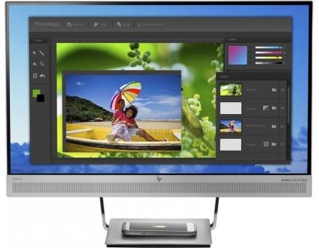 "Фотография товара монитор 23,8"" HP EliteDisplay S240uj, WQHD, IPS, HDMI, DP, 2xUSB 3.0, USB Type-C, Серебристый/Черный T7B66AA (59903)"