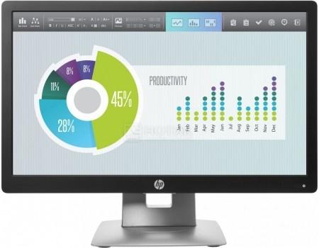 """Фотография товара монитор 20"""" HP EliteDisplay E202, WXGA++, IPS, VGA, HDMI, DP,3xUSB 2.0, Черный/Серебристый M1F41AA (59997)"""