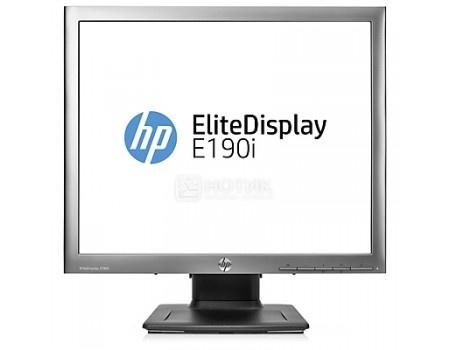 "Монитор 18,9"" HP EliteDisplay E190i, SXGA, IPS, VGA, DVI, DP, 2xUSB 2.0, Серебристый/Черный E4U30AA фото"
