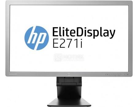 """Фотография товара монитор 27"""" HP EliteDisplay E271i, FHD, IPS, VGA, DVI, DP, 2xUSB 2.0, Серебристый/Черный D7Z72AA (60001)"""
