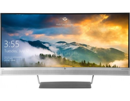 "Монитор 34"" HP EliteDisplay S340c, Ultra WQHD, VA, Curved, HDMI, DP, 2xUSB 3.0, 1xUSB Type-C Черный/Серебристый V4G46AA фото"
