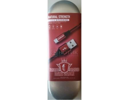 Фотография товара кабель JOYROOM, USB - microUSB, 1.2м, 2.1A, Woven fabric braided, Красный S-L316m Red (60184)