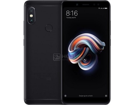 "Фотография товара смартфон Xiaomi Redmi Note 5 32Gb Black (Android 8.0 (Oreo)/SDM636 1800MHz/6.00"" 2160x1080/3072Mb/32Gb/4G LTE ) [Redmi_Note5_32GB_Black] (60192)"