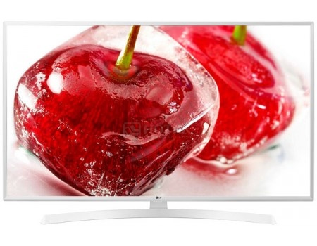 Телевизор LG 43 LED, UHD, IPS, Smart TV (webOS), Звук (20 Вт (2x10 Вт)) , 3xHDMI, 2xUSB, 1xRJ-45, PMI 100, Белый 43UK6390PLG