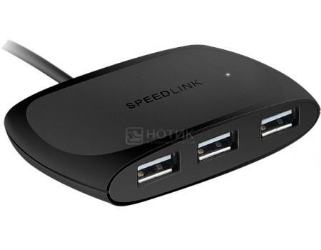 Фотография товара uSB-хаб SPEEDLINK Snappy 4xUSB 3.0 для зарядки 2A. Passive Черный SL-140104-BK (60225)