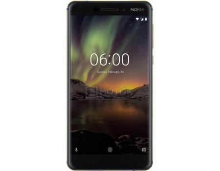 "Фотография товара смартфон Nokia 6.1 32Gb Blue (Android 8.1 (Oreo)/SDM630 2200MHz/5.5"" 1920x1080/3072Mb/32Gb/4G LTE ) [11PL2L01A05] (60232)"