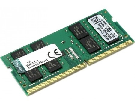 Модуль памяти Kingston SO-DIMM DDR4 16384Mb PC4-21300 2666MHz 1.2V, CL19, KVR26S19D8/16