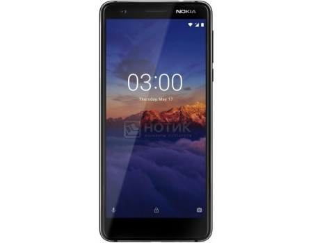 "Фотография товара смартфон Nokia 3.1 DS 16Gb Black (Android 8.0 (Oreo)/MT6750 1500MHz/5.2"" 1440x720/2048Mb/16Gb/4G LTE ) [11ES2B01A01] (60317)"