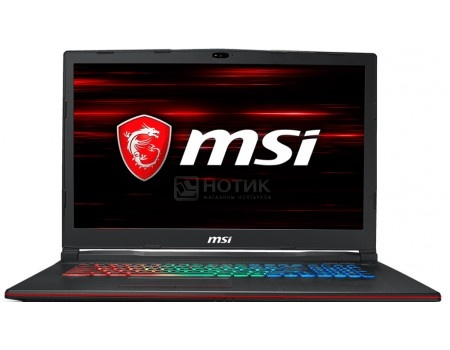 Фотография товара ноутбук MSI GP73 8RE-469RU Leopard (17.3 TN (LED)/ Core i7 8750H 2200MHz/ 16384Mb/ HDD+SSD 1000Gb/ NVIDIA GeForce® GTX 1060 6144Mb) MS Windows 10 Home (64-bit) [9S7-17C522-469] (60411)