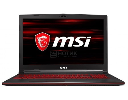 Ноутбук MSI GL63 8RD-470XRU (15.6 TN (LED)/ Core i7 8750H 2200MHz/ 16384Mb/ HDD 1000Gb/ NVIDIA GeForce® GTX 1050Ti 4096Mb) Free DOS [9S7-16P612-470]