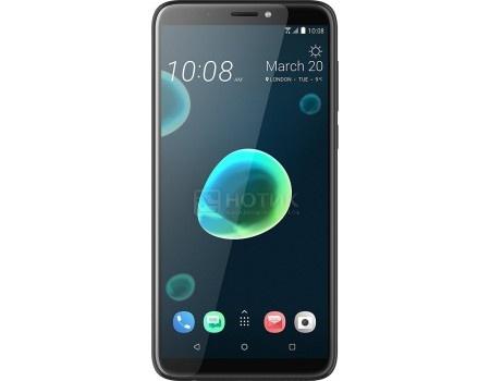 "Фотография товара смартфон HTC Desire 12+ Cool Black (Android 8.0 (Oreo)/Snapdragon 450 1800MHz/6.0"" 1440x720/3072Mb/32Gb/4G LTE 3G (EDGE, HSDPA, HSUPA)) [99HAPF024-00] (60533)"