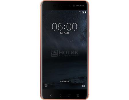 "Фотография товара смартфон Nokia 6 32Gb Copper (Android 7.1 (Nougat)/MSM8937 1400MHz/5.50"" 1920x1080/3072Mb/32Gb/4G LTE ) [11PLEM01A07] (60535)"