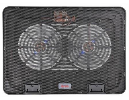 "Фотография товара подставка для ноутбука Buro BU-LCP156-B214H 15,6"", Вентилятор 2x140мм, 2xUSB 2.0,  металлическая сетка, BU-LCP156-B214H (60543)"