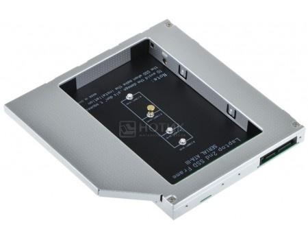 Фотография товара переходник Optibay ORIENT UHD-2M2C9 для установки в ноутбук/моноблок SSD M.2 вместо DVD-привода (9,5mm) UHD-2M2C9 (60562)