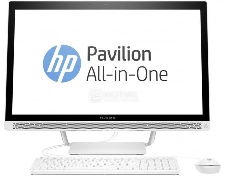 Моноблок HP Pavilion 27-r005ur (27.0 IPS (LED)/ Core i3 7100T 3400MHz/ 8192Mb/ HDD+SSD 1000Gb/ AMD Radeon 530 2048Mb) MS Windows 10 Home (64-bit) [2MJ65EA-SSD]