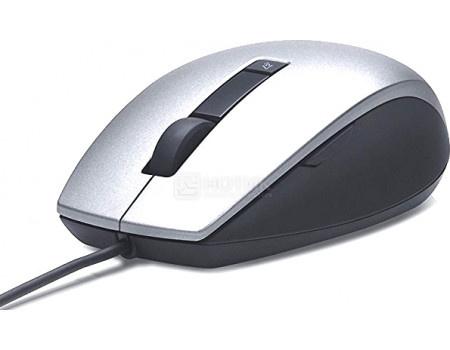 Фотография товара мышь проводная Dell Laser 4-but, 1000dpi, USB, Серебристый 570-11349 (60660)