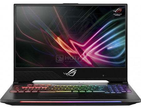 Фотография товара ноутбук ASUS ROG HERO II Edition GL504GM-ES217T (15.6 IPS (LED)/ Core i7 8750H 2200MHz/ 16384Mb/ HDD+SSD 1000Gb/ NVIDIA GeForce® GTX 1060 6144Mb) MS Windows 10 Home (64-bit) [90NR00K2-M03950] (60669)