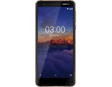 "Фотография товара смартфон Nokia 3.1 DS 16Gb Blue (Android 8.0 (Oreo)/MT6750 1500MHz/5.2"" 1440x720/2048Mb/16Gb/4G LTE ) [11ES2L01A01] (60715)"