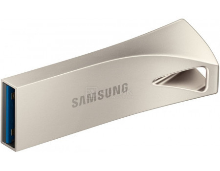 Фотография товара флешка Samsung 32Gb BAR Plus, USB 3.1, Серебристый MUF-32BE3/APC (60722)