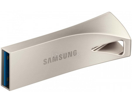Фотография товара флешка Samsung 64Gb BAR Plus, USB 3.1, Серебристый MUF-64BE3/APC (60725)