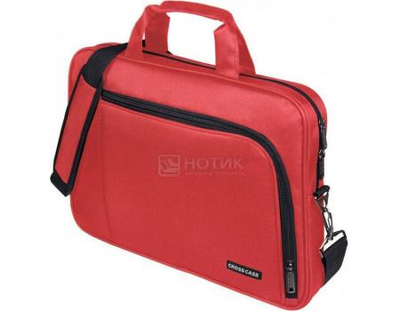 """Фотография товара сумка 15,6"""" Cross Case CC15-006 Red, Полиэстер, Красный (60749)"""