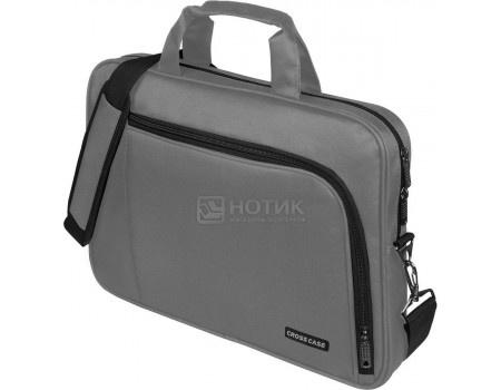 """Фотография товара сумка 15,6"""" Cross Case CC15-006 Grey, Полиэстер, Серый (60750)"""