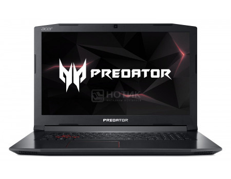 Фотография товара ноутбук Acer Predator Helios 300 PH317-52-58TJ (17.30 IPS (LED)/ Core i5 8300H 2300MHz/ 16384Mb/ HDD+SSD 1000Gb/ NVIDIA GeForce® GTX 1050Ti 4096Mb) MS Windows 10 Home (64-bit) [NH.Q3EER.008] (60761)