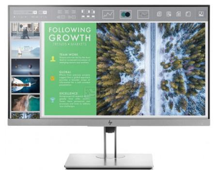 "Монитор 23,8"" HP EliteDisplay E243, FHD, IPS, VGA, HDMI, DP, 2xUSB 3.0, Серебристый/Черный 1FH47AA фото"