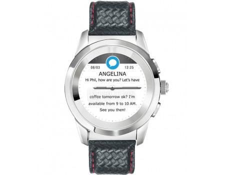 Фотография товара смарт-часы MyKronoz ZeTime Premium Regular, 200мАч, Серебристый/Черный KRZT1RP-PSL-BKCAR (60871)