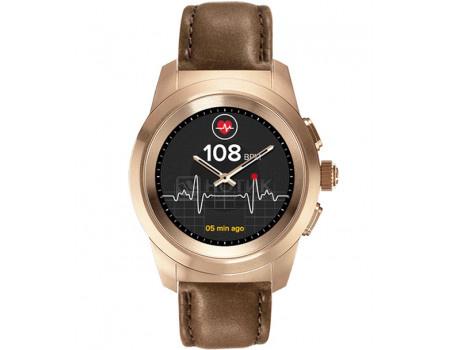 Фотография товара смарт-часы MyKronoz ZeTime Premium Regular, 200мАч, Розовое золото/Коричневый KRZT1RP-BPG-BRLEA (60872)