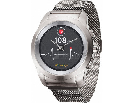 Фотография товара смарт-часы MyKronoz ZeTime Elite Petite, 180мАч, Серебристый BRUSHED SILVER MILANESE (60875)
