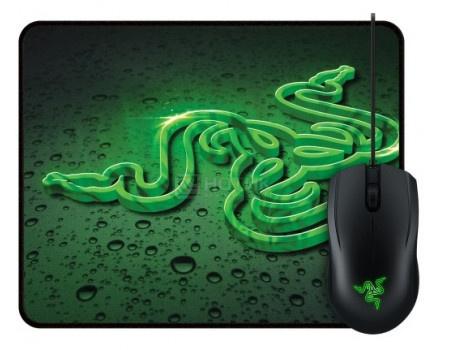 Фотография товара мышь проводная Razer Abyssus 2000dpi +  коврик Goliathus Speed Terra Черный/Зеленый RZ83-02020100-B3M1 (60882)